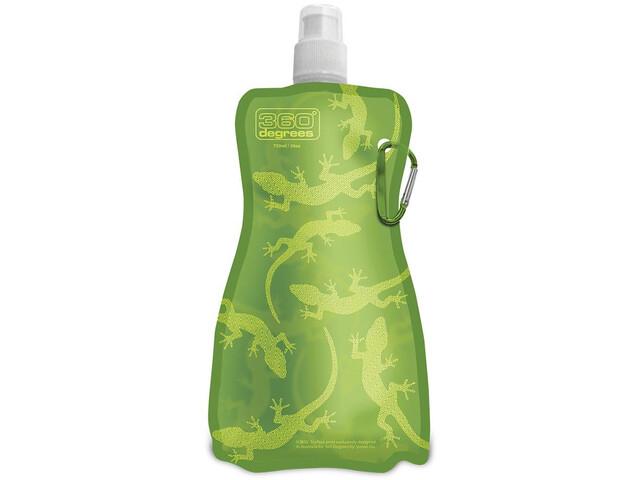 360° degrees Flexi Bottle 750ml, gecko on green